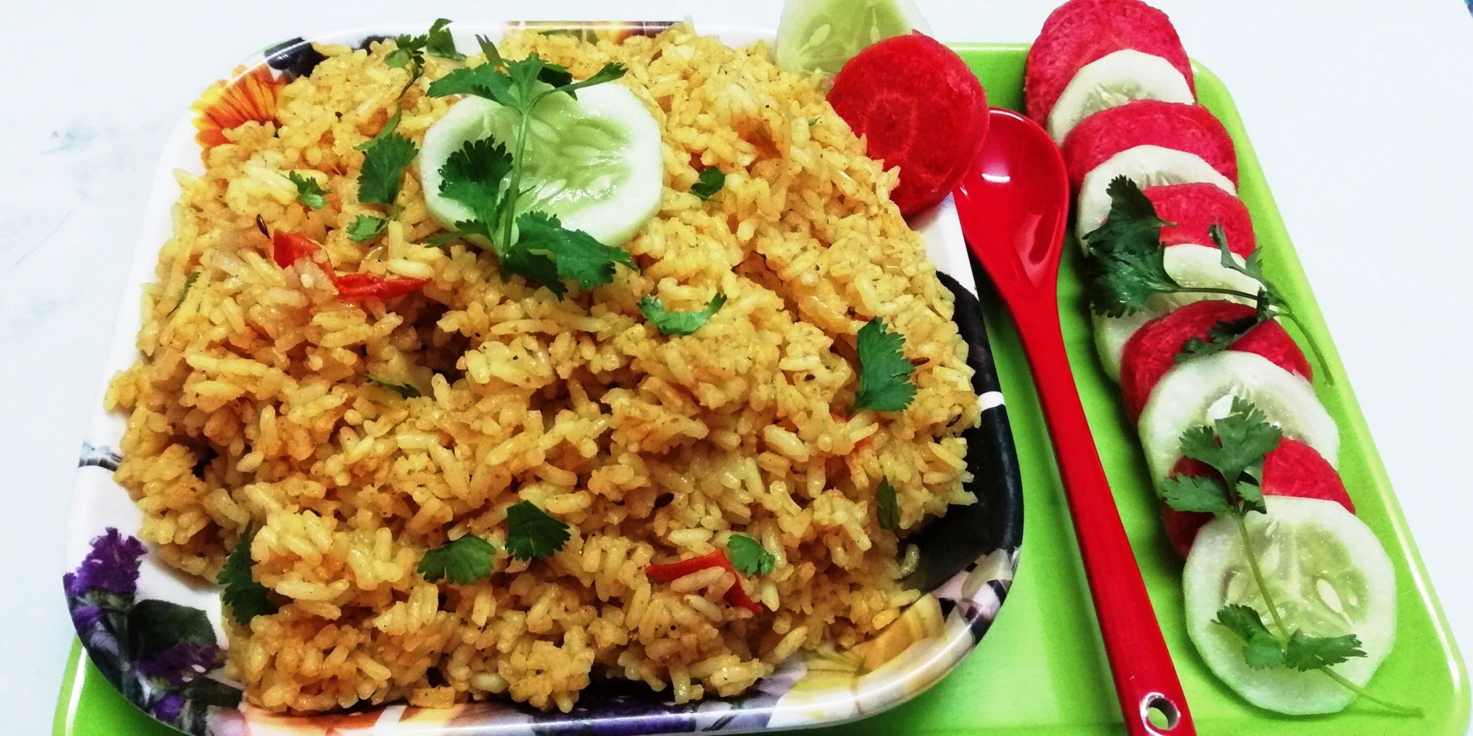 Yellow masala fried riceeasy yellow rice chits kitchen ccuart Choice Image